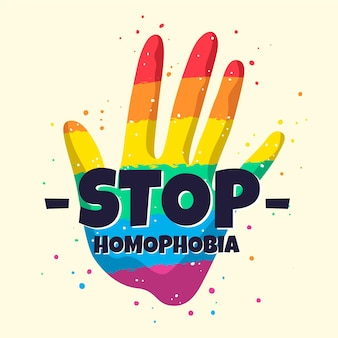 Stoppen sie homophobie illustration