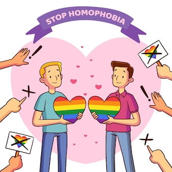 Stoppen sie homophobie-illustrationsdesign