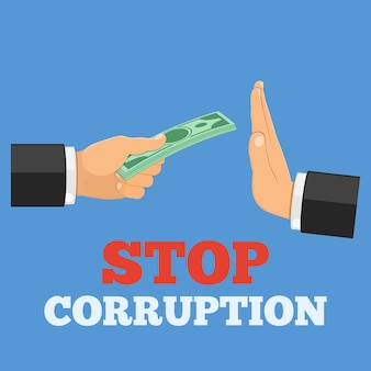 Stoppen sie korruptionskonzept