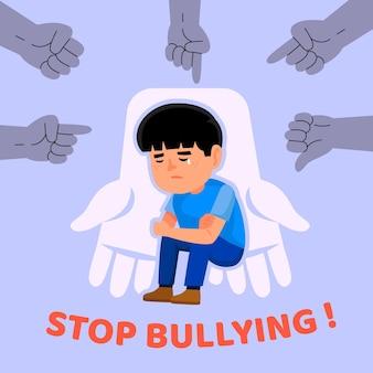 Stoppen sie mobbing illustration konzept