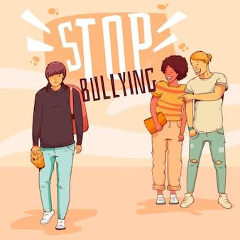 Stoppen sie mobbing-konzept