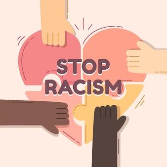 Stoppen sie rassismus illustration thema