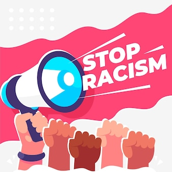 Stoppen sie rassismus illustration