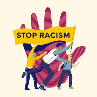 Stoppen sie rassismus illustration