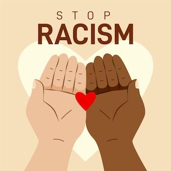 Stoppen sie rassismus illustrationsdesign