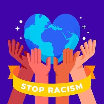 Stoppen sie rassismus illustrationskonzept