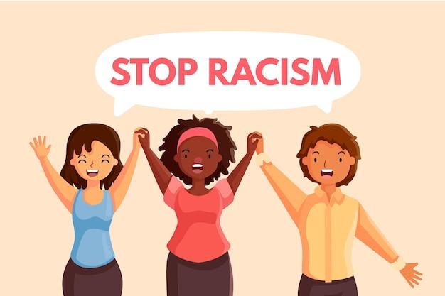 Stoppen sie rassismus mit frauen