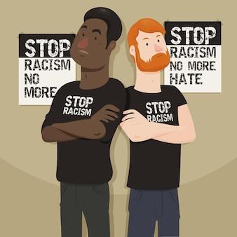 Stoppen sie rassismus mit männern