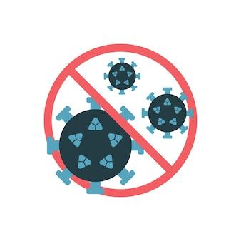 Stoppschild für das coronavirus. stoppen sie die covid-19-vektorillustration, die auf weißem hintergrund lokalisiert wird.