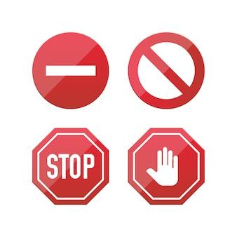 Stoppschild-symbole