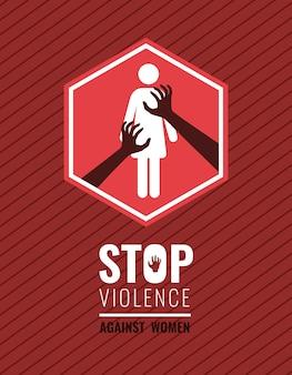 Stoppt gewalt poster violence