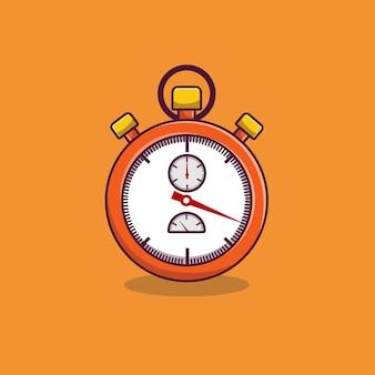Stoppuhr-cartoon-vektor stoppuhr-timer-cartoon-symbol illustration