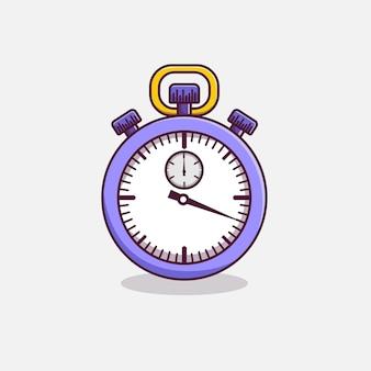 Stoppuhr-timer-cartoon-symbol-illustration