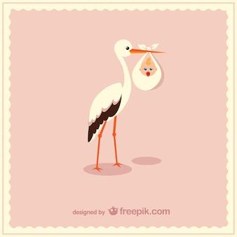 Storch, der niedlichen baby-vektor