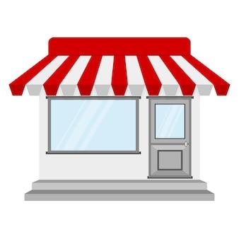 Store oder shop-symbol. illustration