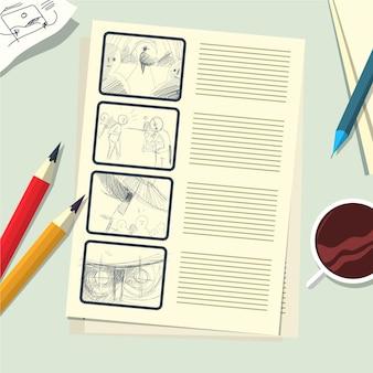 Storyboard-konzept