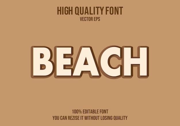 Strand bearbeitbarer text effekt