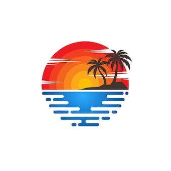 Strand logo vektoren