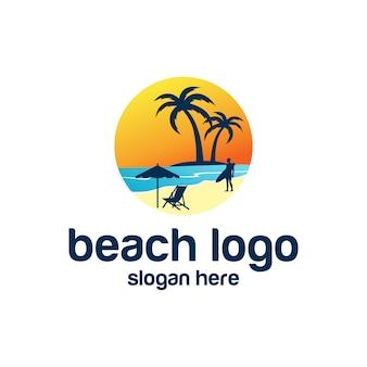 Strand-logo-vektoren