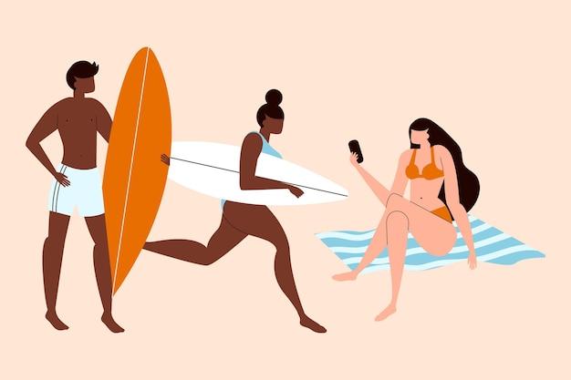 Strand menschen konzept