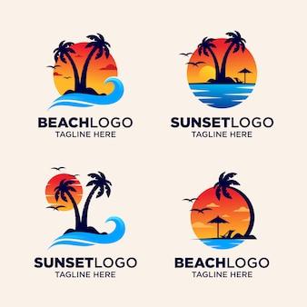 Strand-sonnenuntergang-logo