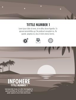 Strand- und reisebroschüre infographic