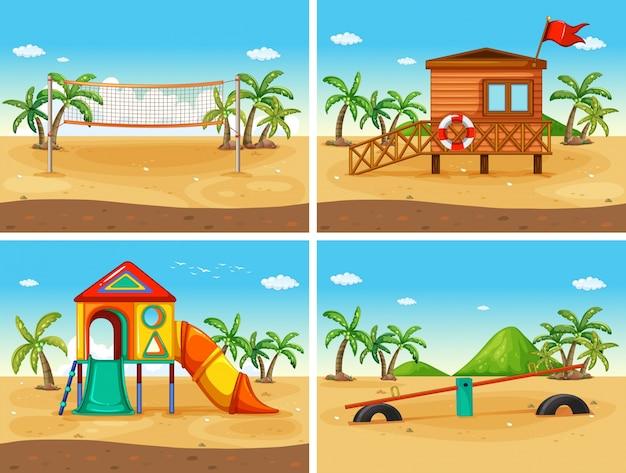 Strand und spielplatz