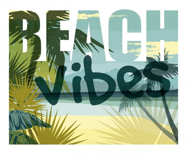 Strand vibes hintergrund Kostenlosen Vektoren