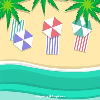 Strand vom spitzenhintergrund in der papierart