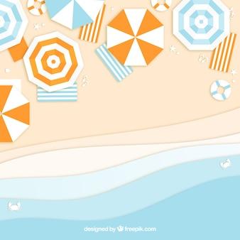 Strand von der spitze mit papierart