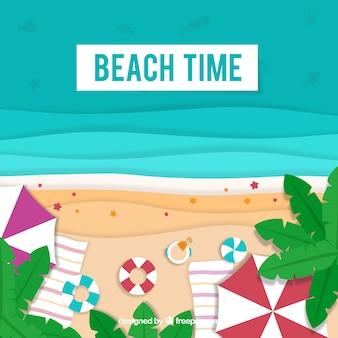 Strand von der spitze mit papierbeschaffenheit