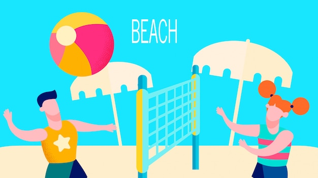 Strandaktivitäten im freien
