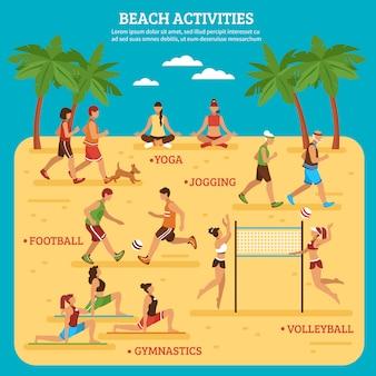 Strandaktivitäten infografiken