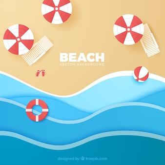 Strandhintergrund mit draufsicht