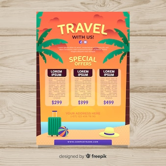 Strandreise-plakatschablone