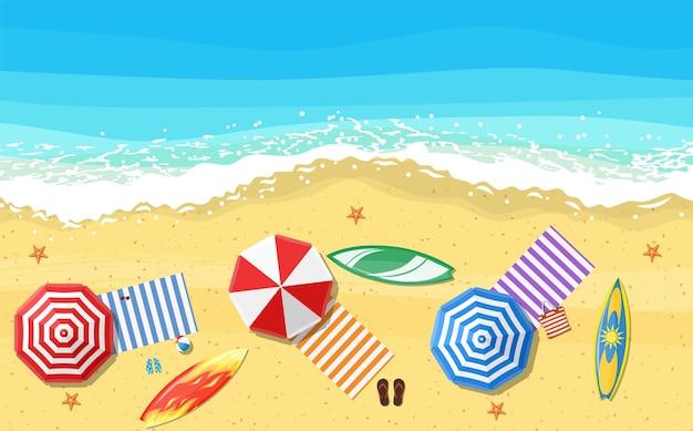 Strandsonnenschirme flip-flops und strand