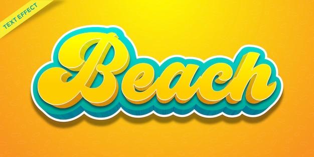 Strandtexteffekt gelb und cyan farbe