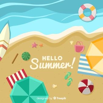 Strandufer-sommerhintergrund