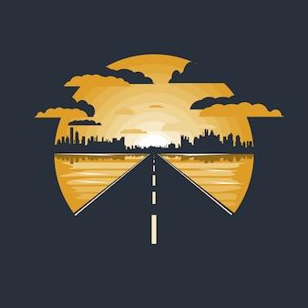 Straße in die stadt