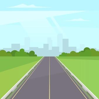 Straße weg in die stadt