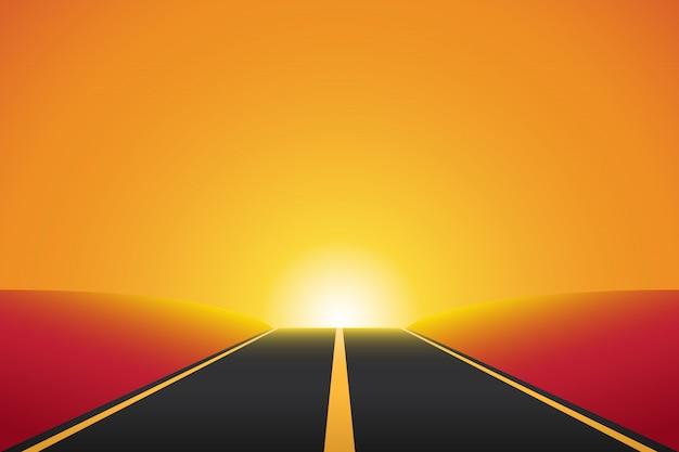 Straße zur unendlichen hintergrundillustration