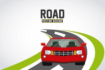 Straßen-Konzept-Design