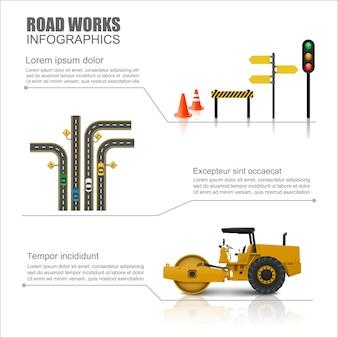 Straßenarbeiter infografik