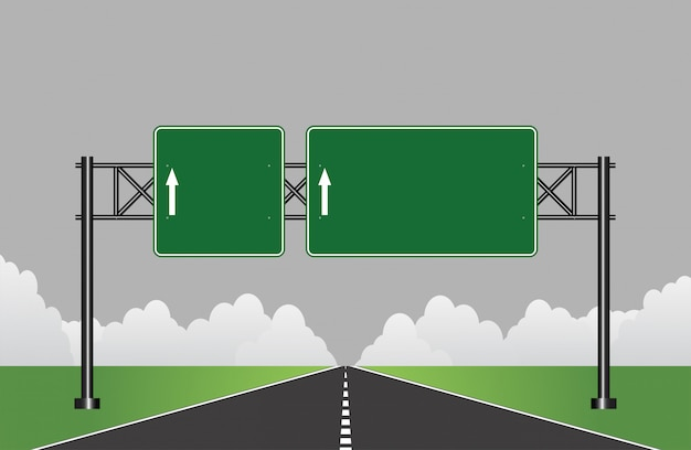 Straßenautobahnzeichen