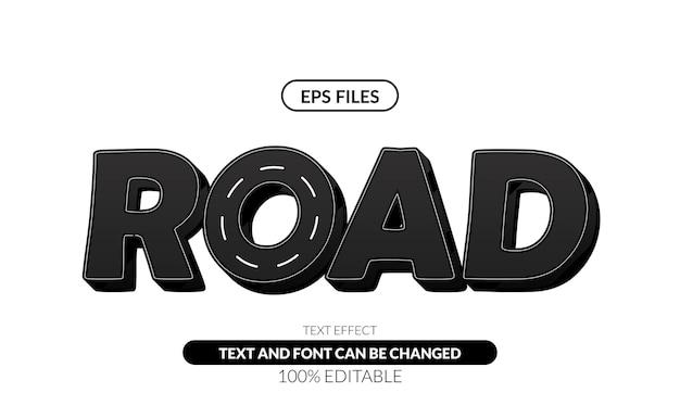 Straßenbearbeitbarer texteffekt.