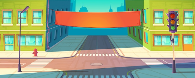 Straßenfahne, plakat. urban werbung, promotion-modell.