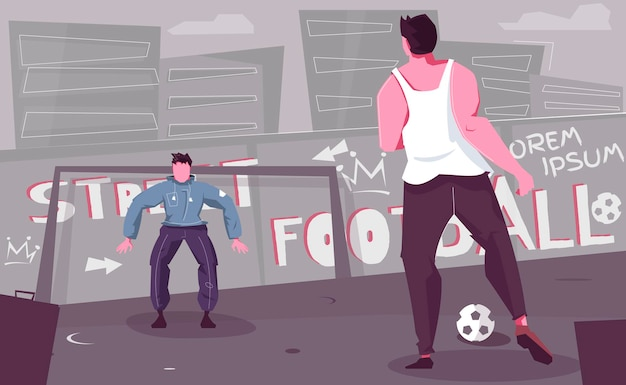 Straßenfußballillustration
