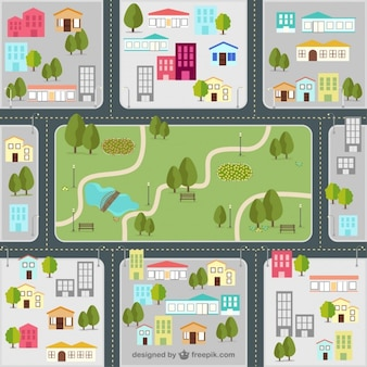 Straßenkarte der Stadt