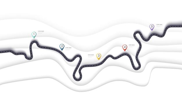 Straßenkarte infografiken vorlage