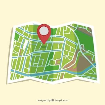 Straßenkarte isoliert